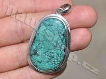 tyrkysový šperk stříbrný přívěsek